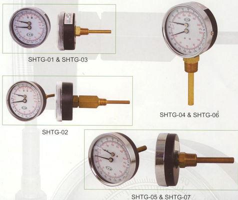 最もよい 80mm Tridicator のゲージ、熱湯ボイラーのための温度のゲージに電話をかけて下さい