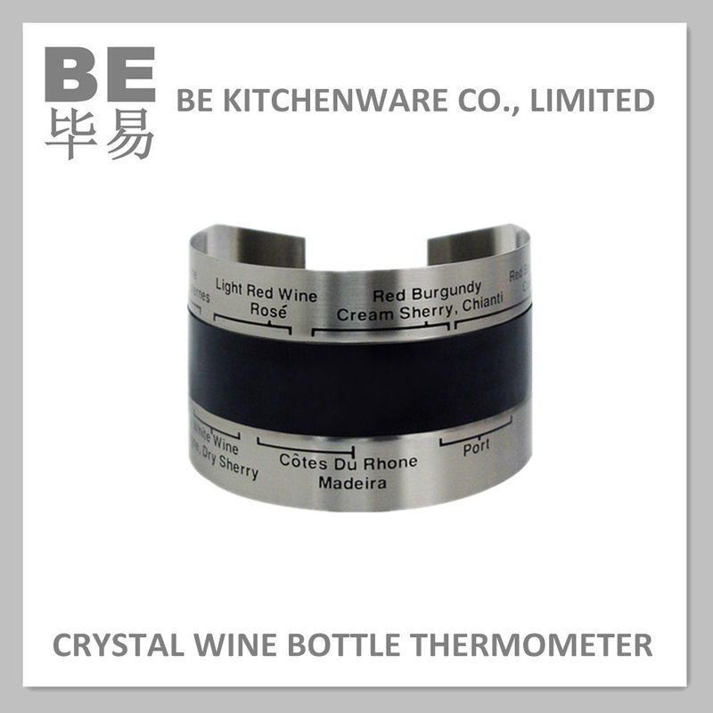 Stainless Steel LCD Liquid Crystal Gift Bottle Wine Thermometer