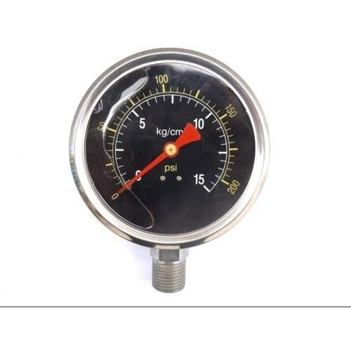 oil stainless steel staianless steel pressure gauge For the measurement of gaseous, liquid