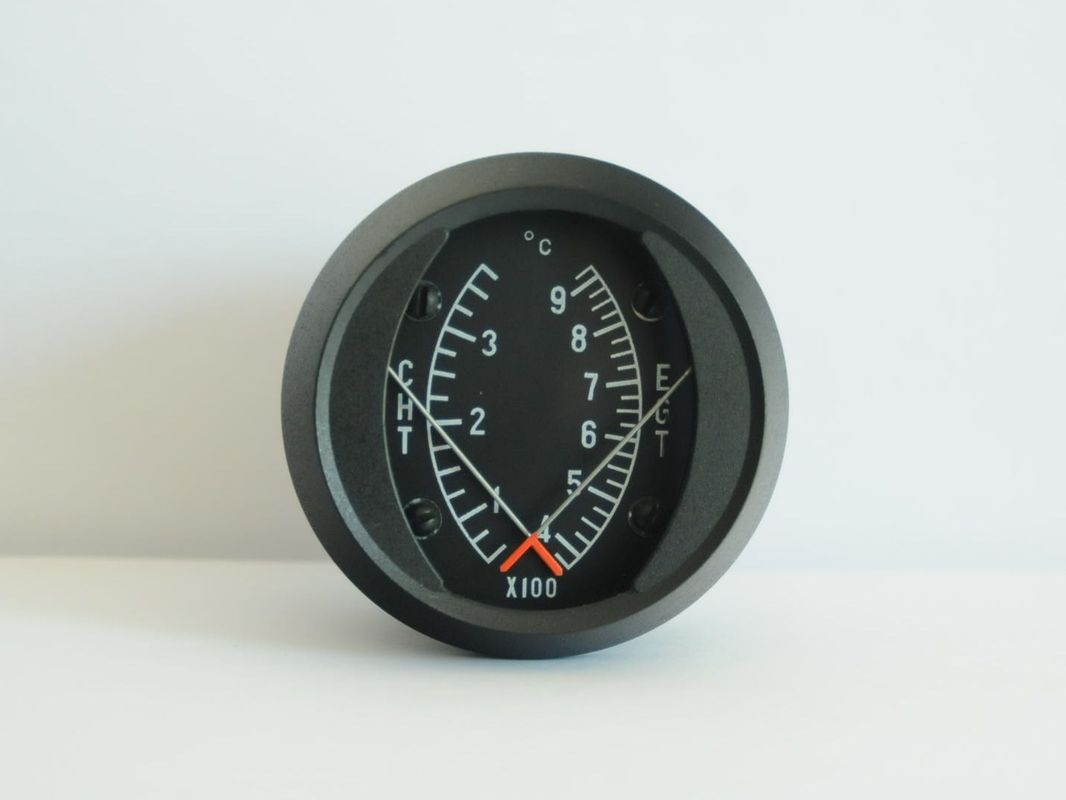 Aircraft Combination Exhaust Gas Temperature and Cylinder Head Temperature Gauge CE1-3792C