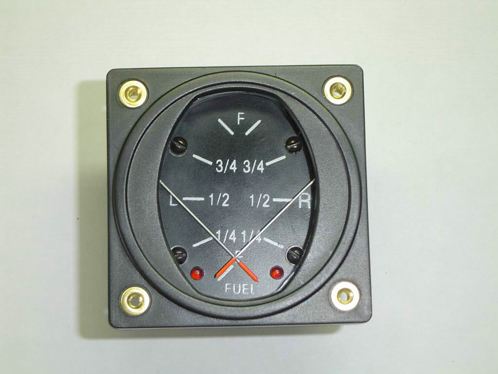 "2 1/4"", 2"" Aircraft Instrument Daul Alam Fuel Tank Level Gauges DF2-VA"